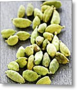 Cardamom Seed Pods Metal Print by Elena Elisseeva