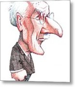 Carl Jung, Caricature Metal Print by Gary Brown