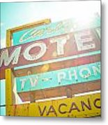 Carlyle Motel Metal Print by David Waldo