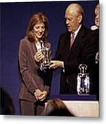 Caroline Kennedy And Senator Ted Metal Print by Everett