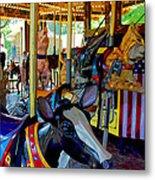 Carousel Fun Metal Print by Bob Whitt
