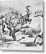 Cartoon: Election Of 1856 Metal Print by Granger