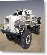 Casper Armored Vehicle Sits Metal Print by Terry Moore
