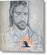 Cast Your Care On Him Metal Print by Raymond Doward