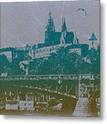 Castillo De Praga Metal Print by Naxart Studio