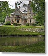 Castle Across River Metal Print by Fred Lassmann