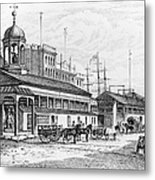 Catharine Market, 1850 Metal Print by Granger