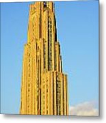 Cathedral Of Learning In Evening Light Metal Print by Thomas R Fletcher