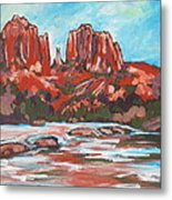 Cathedral Rock 2 Metal Print by Sandy Tracey