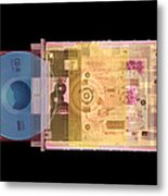 Cd Drive, Coloured X-ray Metal Print by Mark Sykes