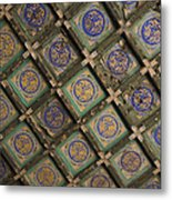Ceiling Tiles In The Forbidden City Metal Print by Sam Bloomberg-rissman