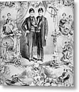 Chang And Eng Bunker, The Original Metal Print by Science Source