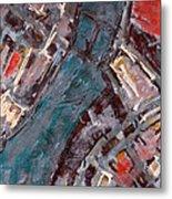 Charles River Plan Metal Print by Romina Diaz-Brarda