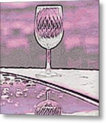 Cheers On Icy Snow Metal Print by Phyllis Kaltenbach