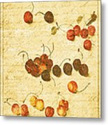 Cherries Metal Print by Bonnie Bruno