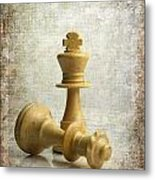 Chess Pieces Metal Print by Bernard Jaubert