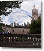 Chicago Cloud Gate Bean Sculpture Metal Print by Paul Velgos