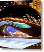 Chicago Cloud Gate Luminous Field Metal Print by Paul Velgos