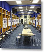 Chicago Cubs Dressing Room Metal Print by David Bearden