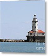 Chicago Harbor Light Metal Print by Christine Till