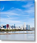 Chicago Lakefront Skyline Wide Angle Metal Print by Paul Velgos