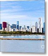 Chicago Panarama Skyline Metal Print by Paul Velgos