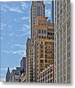 Chicago Willoughby Tower And 6 N Michigan Avenue Metal Print by Christine Till