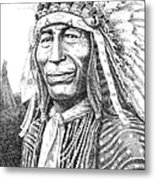 Chief-iron-tail Metal Print by Gordon Punt