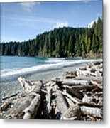 China Beach Vancouver Island Juan De Fuca Provincial Park Metal Print by Andy Smy