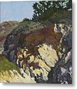 China Cove Cliffs Metal Print by Marian Fortunati