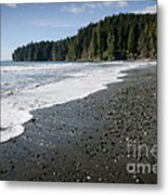 China Wave China Beach Juan De Fuca Provincial Park Vancouver Island Bc Metal Print by Andy Smy
