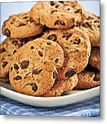 Chocolate Chip Cookies Metal Print by Elena Elisseeva