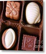 Chocolates Closeup Metal Print by Carlos Caetano