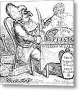Cholera Doctor, Satirical Artwork Metal Print by