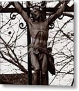 Christ Among The Ruins Metal Print by Pam Blackstone