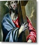 Christ Clasping The Cross Metal Print by El Greco