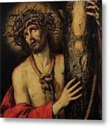 Christ Man Of Sorrows Metal Print by Antonio Pereda y Salgado