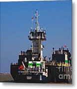 Christiana Oil Tanker Sitting In Galveston Tx Metal Print by Susanne Van Hulst