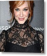 Christina Hendricks Wearing A Dolce & Metal Print by Everett
