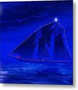Christmas At Sea Metal Print by Carol and Mike Werner