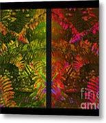 Christmas Fern Diptych Metal Print by Judi Bagwell