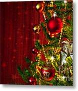 Christmas Tree Detail Metal Print by Carlos Caetano