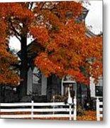 Church In Autumn Metal Print by Andrea Kollo