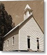 Church In The Mountains Metal Print by Barry Jones