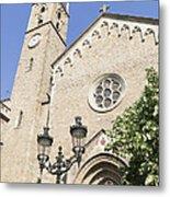 Church Parroquia De La Purissima Concepcio Barcelona Spain Metal Print by Matthias Hauser
