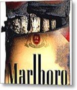 Cigarette Skeleton Metal Print by Michael Kraus