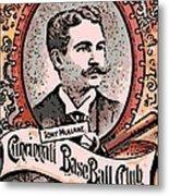 Cincinnati Baseball Metal Print by George Pedro
