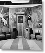 Cincinnati Union Terminal, Linoleum Metal Print by Everett