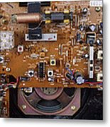 Circuit Board In A Portable Radio Metal Print by Andrew Lambert Photography