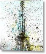 City-art Paris Eiffel Tower II Metal Print by Melanie Viola